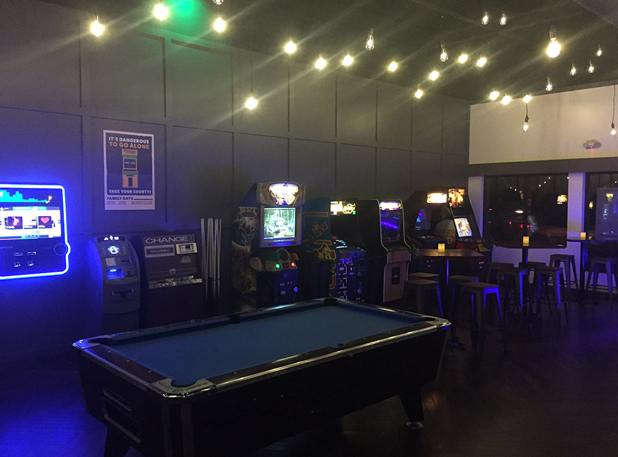Throwback Arcade At Bourbon Butcher Games Supplied By Aaa
